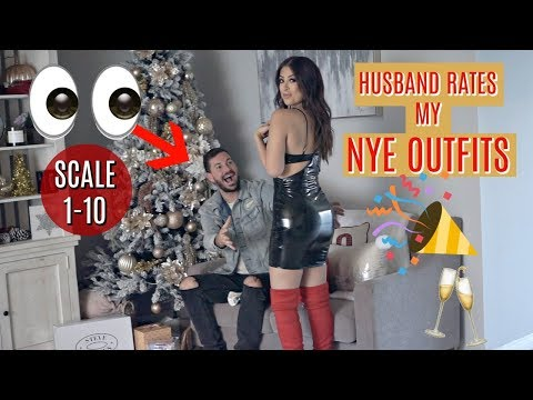 Husband RATES My NYE OUTFITS & Picks His Fave *YOU WON'T BELIEVE WHAT HE CHOSE*