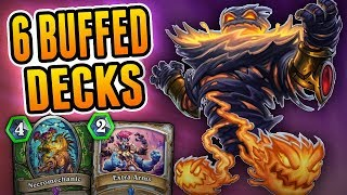Top 6 Decks to Try with the Buffs   Deck Ideas   Wild Hearthstone Rise of Shadows