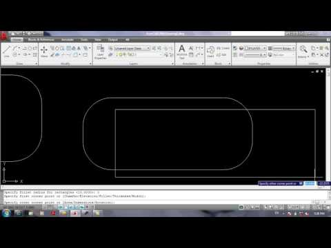 AutoCad In Pashto 11 Rotate, Fillet, Chamfer, Distance, List, Area, Ld Point اټوکيډ په پښتو کې