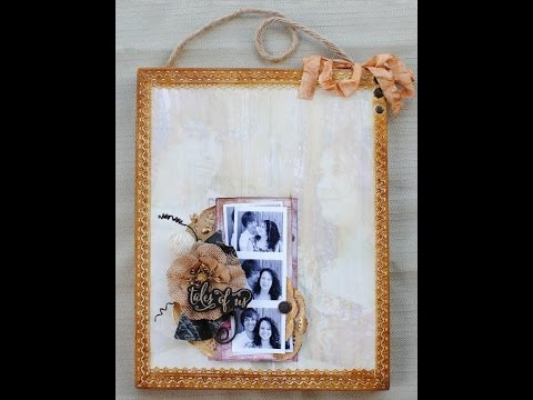 Image Transfered Plaque Home Decor with Delaina Burns