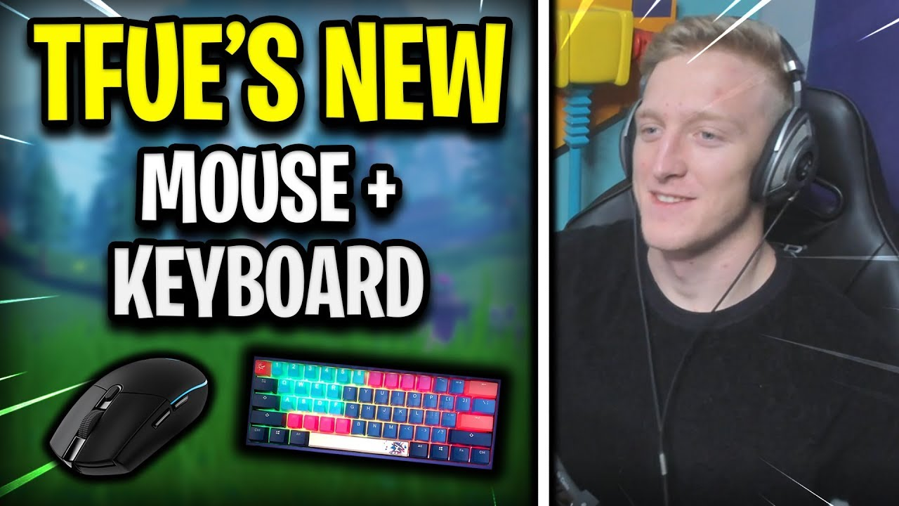 Tfue's NEW Mouse and Keyboard (FULL SETUP)
