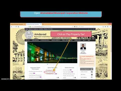 How to pay property tax or vera bill online for Ahmedabad city ?