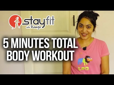 5 minutes Total Body Workout | Stay Fit with Ramya