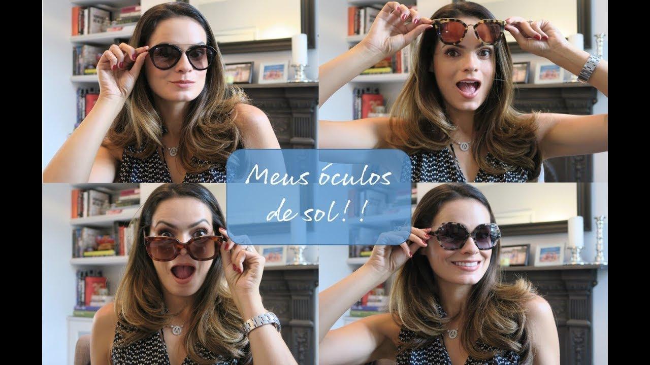 Meus óculos de sol! Marcas e modelos - YouTube eb17b71dd0
