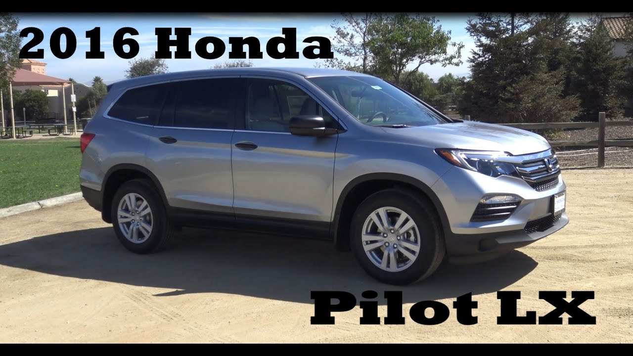 2016 honda pilot lx review youtube. Black Bedroom Furniture Sets. Home Design Ideas