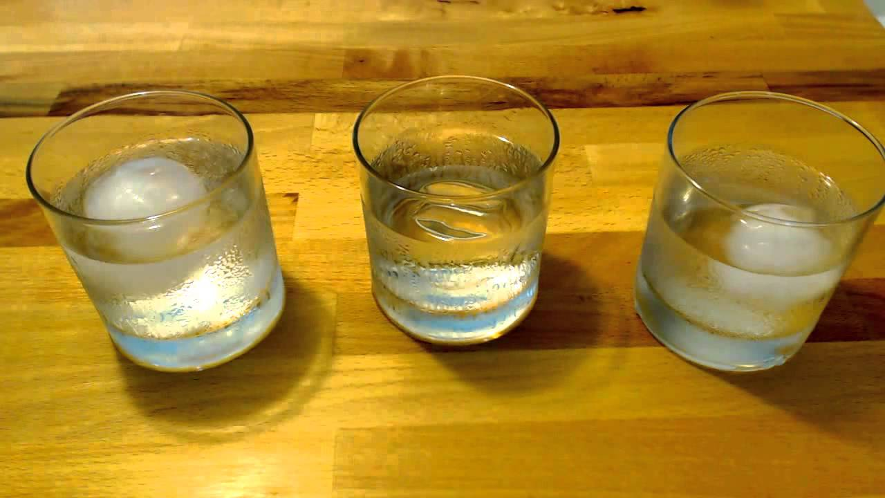 ice melt comparison clear ice sphere vs cloudy ice spheres youtube