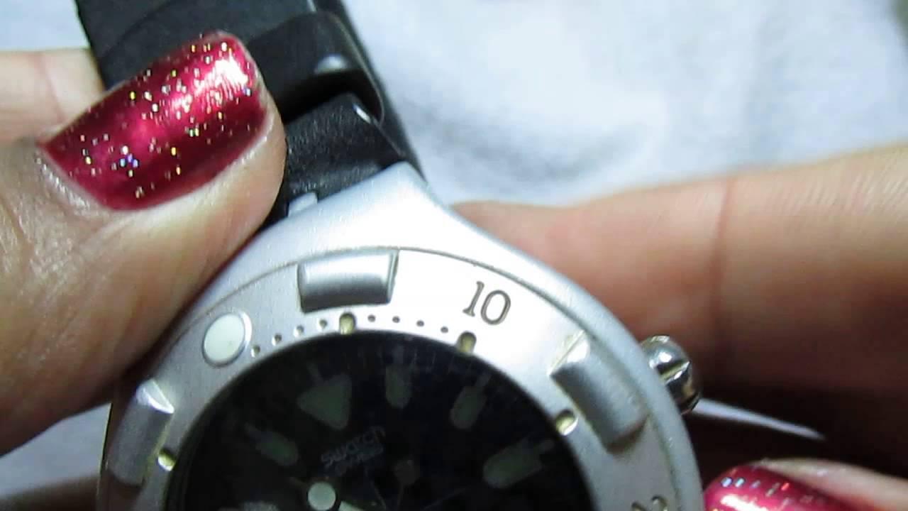 63b09052f1a Relógio de pulso Swatch scuba azul - YouTube