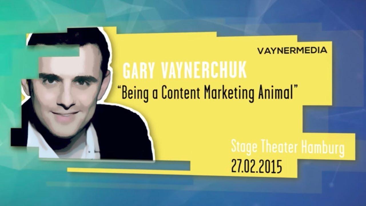 Gary Vaynerchuk Being A Content Marketing Animal Online Marketing Rockstars Keynote Omr15 Youtube