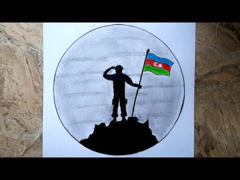 AZERBAYCAN ƏSGƏRİN NECƏ ÇƏKMƏK OLAR / ADDIM ADDIM / RƏSM DƏRS 8