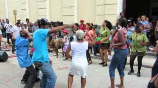 Cuban salsa group playing on the street