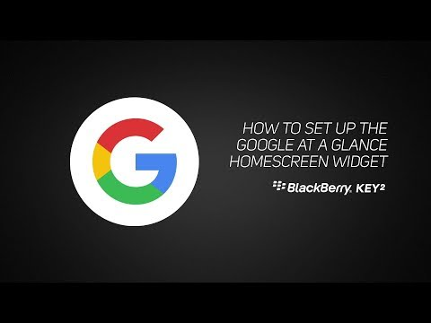 How to setup the Google At a Glance homescreen widget