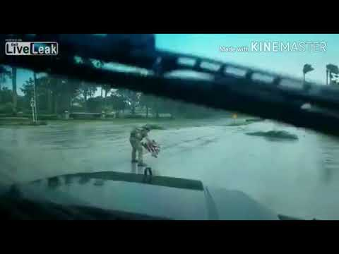 Florida officer saves fallen flag from middle of road after Irma