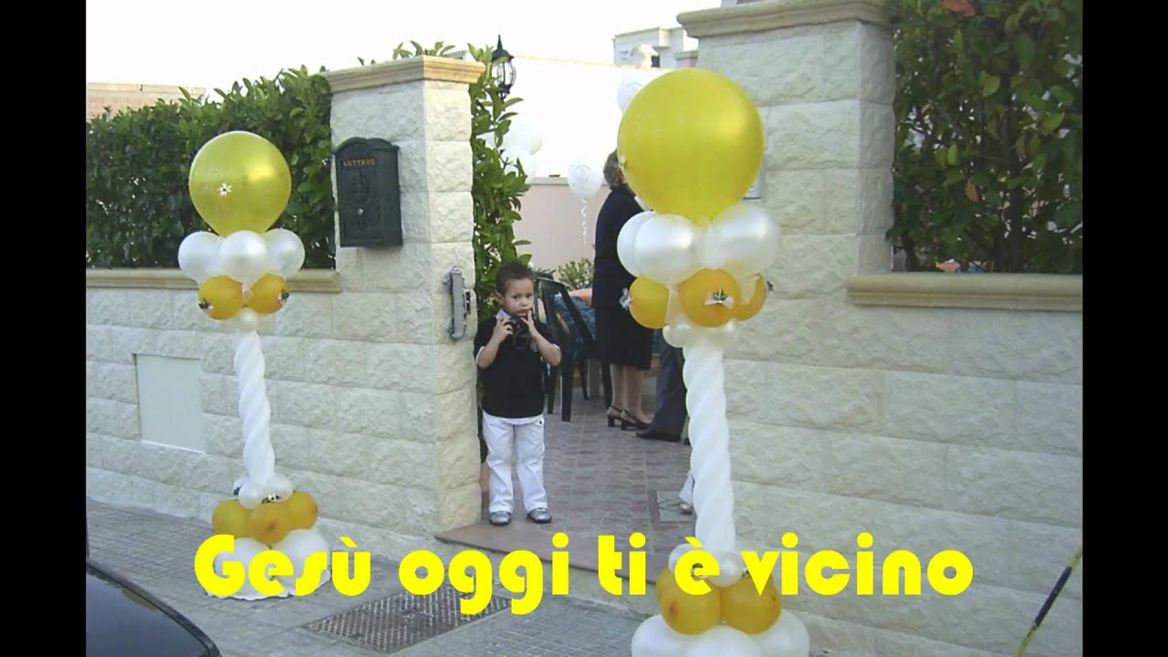 Palloncini comunione alcune piccole immagini per grandi eventi youtube - Composizione palloncini da tavolo ...