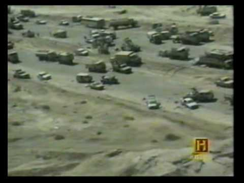 """Highway of Death"" Iraqi Army Armed Retreat from Kuwait 1991"