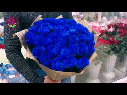 """Синие розы от салона """"ДариЦветы"""""""