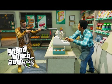 GTA 5 Online ROBBING CHALLENGE! Robbing All Stores in GTA 5! (GTA 5 PS4 Gameplay)