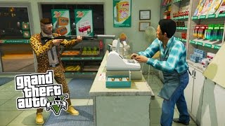 GTA 5 Online ROBBING CHALLENGE! Robbing All Stores in GTA 5! (GTA 5 PS4 Gameplay)