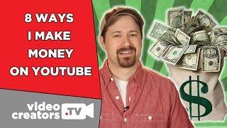 Video 8 Ways I Make Money on YouTube download MP3, 3GP, MP4, WEBM, AVI, FLV September 2018