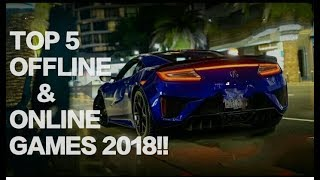 Top 5 Online/Offline Racing Games For Android And IOS 2018!