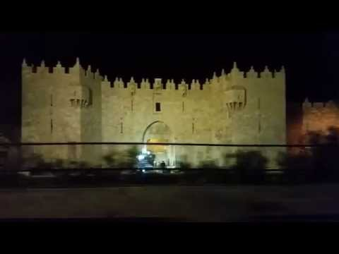 Damascus Gate and the Old City of Jerusalem at night