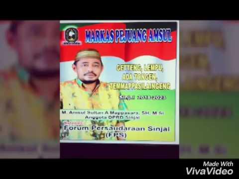 Lagu bugis M. Amsul Sultan A. Mappasara menuju pilkada sinjai 2018-2023