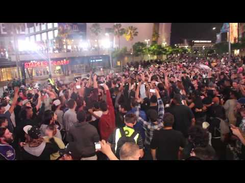 Kings Fans React to the Stanley Cup Win at L.A. Live - FULL