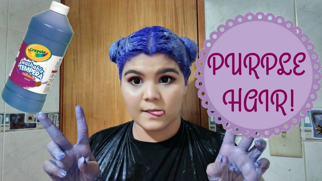 How To Dye Your Hair Purpleviolet Diy Youtube