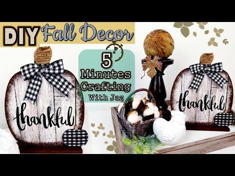 5 MINUTES CRAFTING No. 4 | DOLLAR TREE DIY | FARMHOUSE FALL DECOR