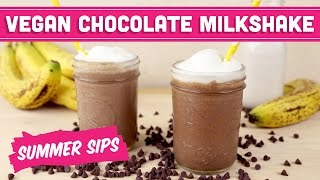 Vegan Chocolate Milkshake! Summer Sips In Sixty Seconds - Mind Over Munch