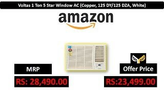 Voltas 1 Ton 5 Star Window AC Copper 125 DY 125 DZA White