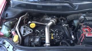 Правильна робота двигуна Рено Меган 2 1.5 dci K9K / Renault Megane 2 1.5 dci K9K 724 check engine