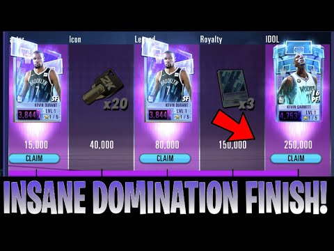 INSANE Domination Finish! *NEW PERSONAL BEST* | NBA 2k Mobile