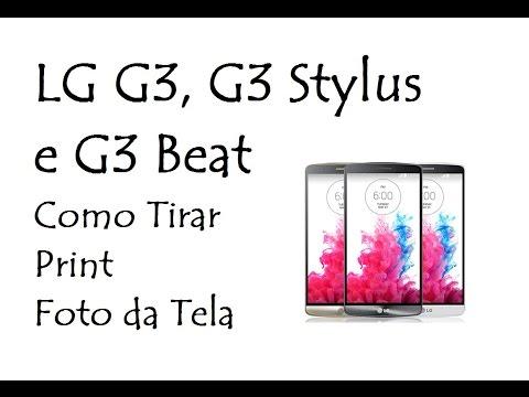 LG G3,G3 Stylus e G3 Beat / Como Tirar Print (Foto da Tela / DavidTecNew)
