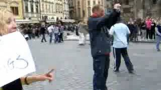 Free Hugs in Prague.