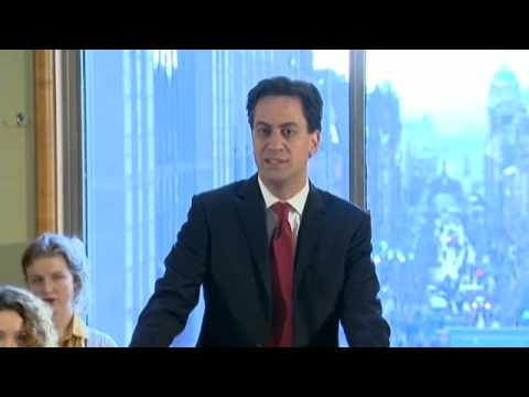 Ed Miliband: David Cameron has no credibility on immigration – video