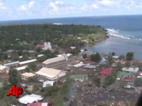 Raw Video: Tour of Samoa Tsunami Damage