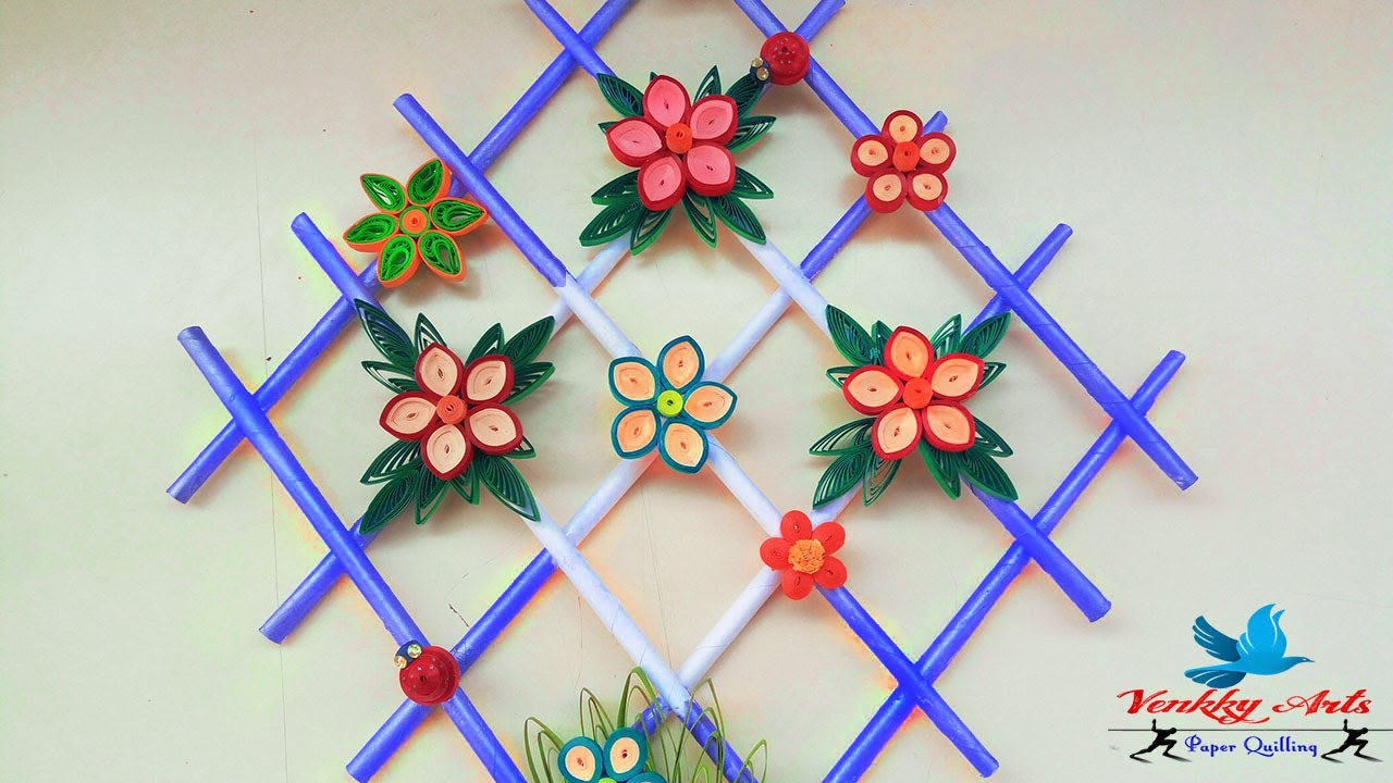 Diy Quill Paper Wall Hangers For Room Decoration Paper Quilling Art Youtube
