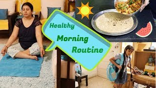 My Healthy Indian Morning Routine  Breakfast, Kids School Tiffin Recipe, Workout &amp Yoga  Maitreyee