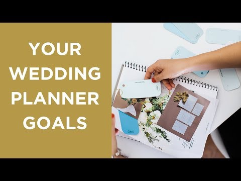 Goal Setting to Become a Wedding Planner