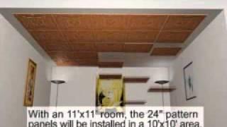 Tin Ceiling Installation Animation