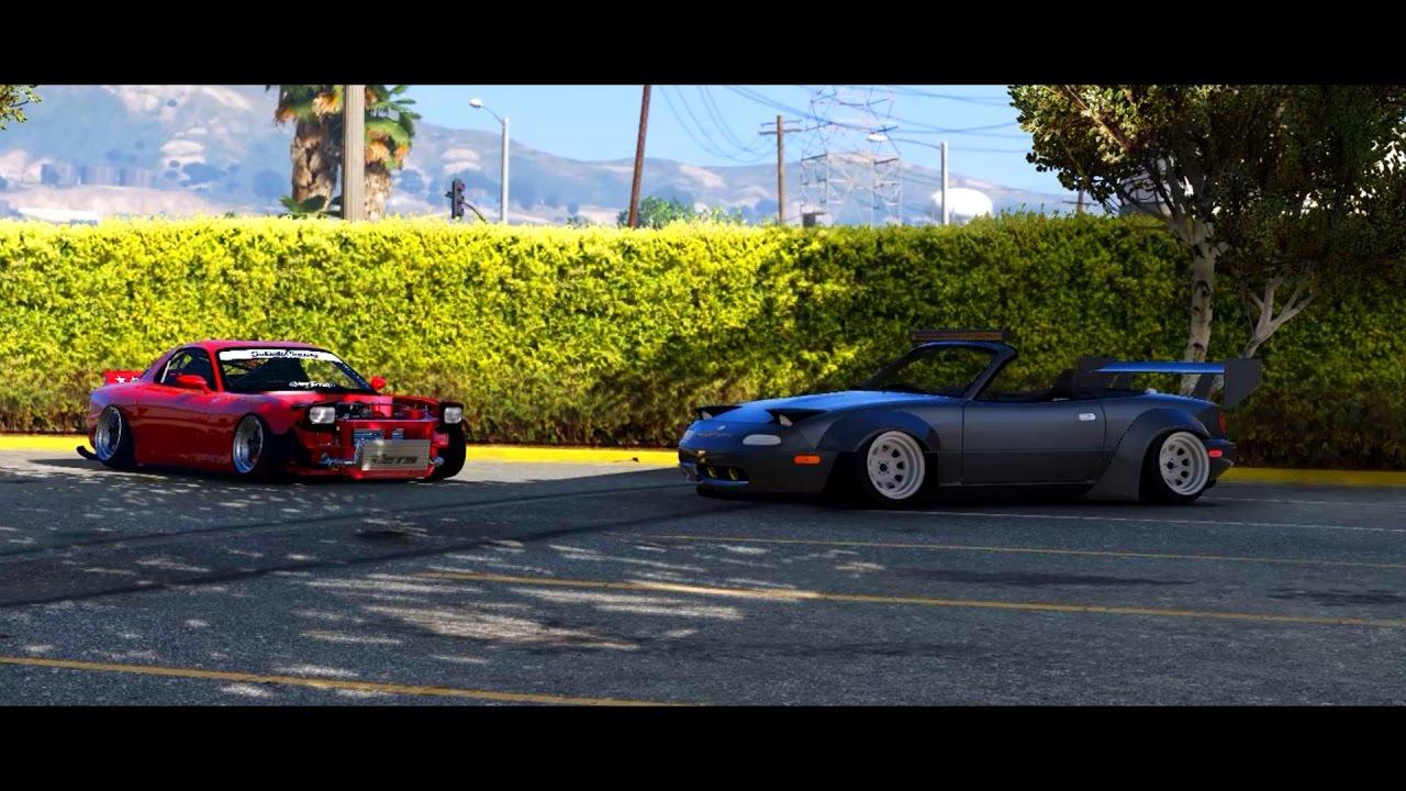 Mazda Rx7 Fd3s Stance Mazda X Miatas Mk1 Mx5 Widebody Cinematic