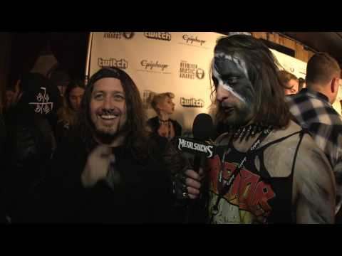 Tony Foresta of MUNICIPAL WASTE / IRON REAGAN, Revolver Music Awards 2016 Black Carpet | MetalSucks