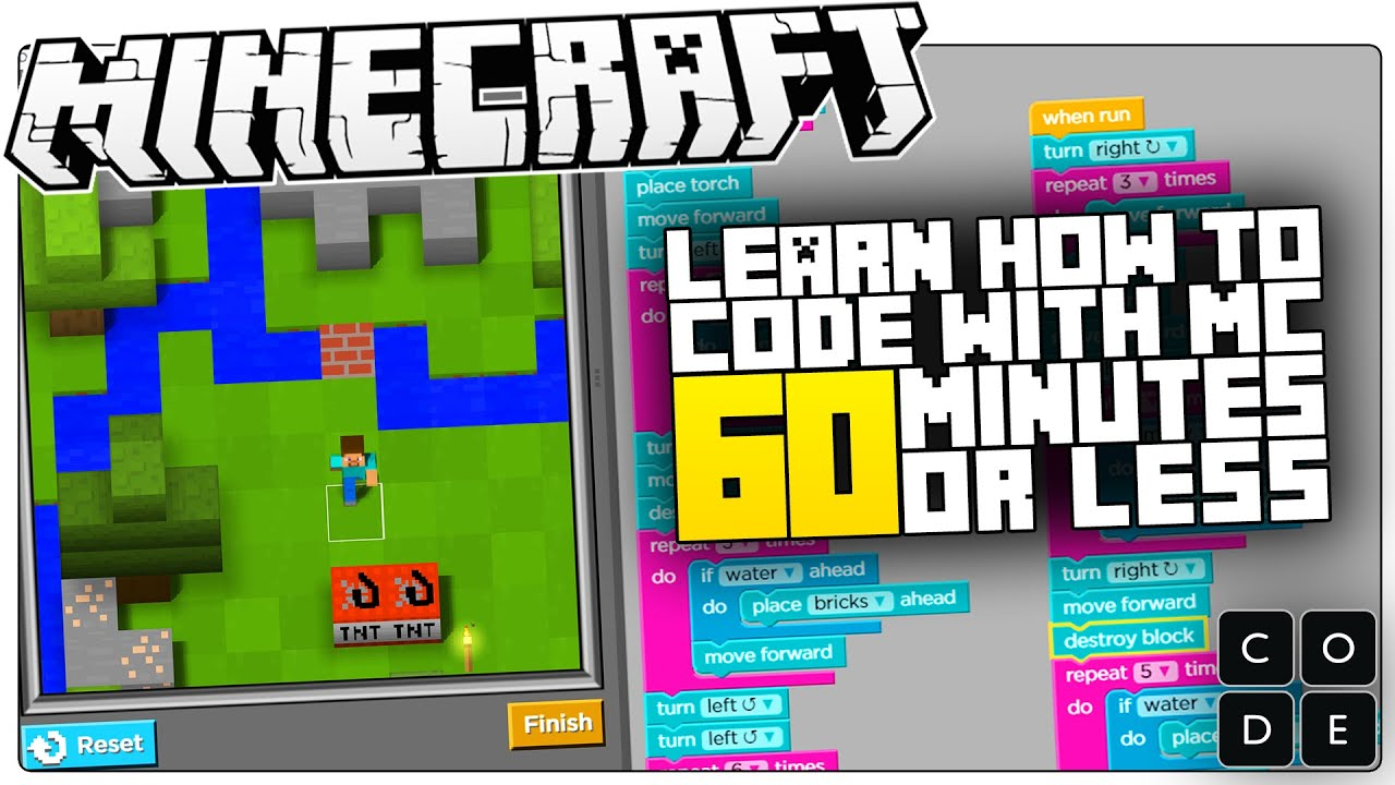 Learn How To Code With Minecraft In 8 Minutes Or Less  Minecraft Hour Of  Code