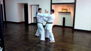 Sensei Tetsuji Nakamura, bunkai variations Shisochin kata.MOV