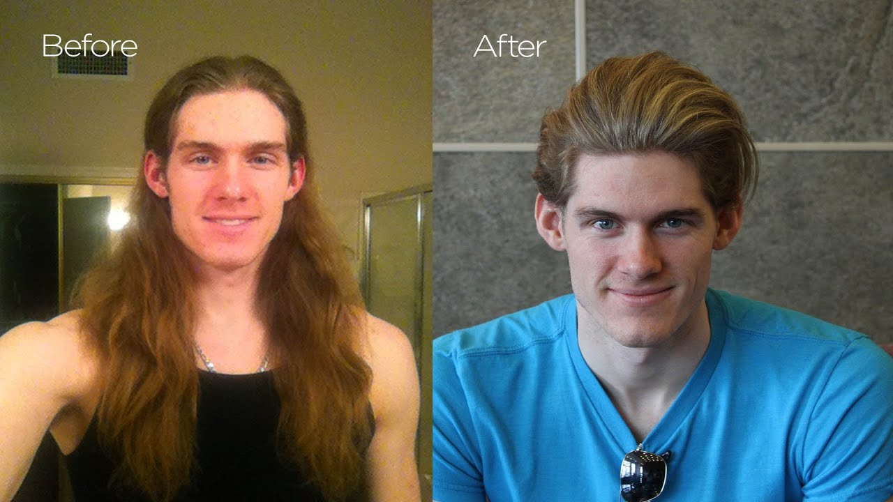 Before Amp After Chris Hemsworth Haircut Mens Summer