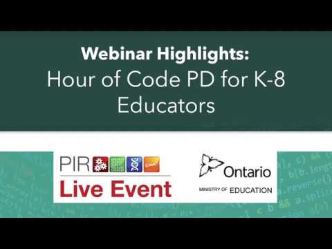 PIR Live Event Highlights - Hour of Code PD for K-8 Educators