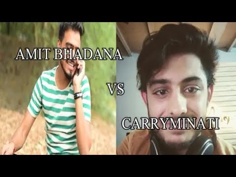 AMIT BHADANA VS CARRYMINATI || Facts and figures || famous youthoobers || by celebs analytics...