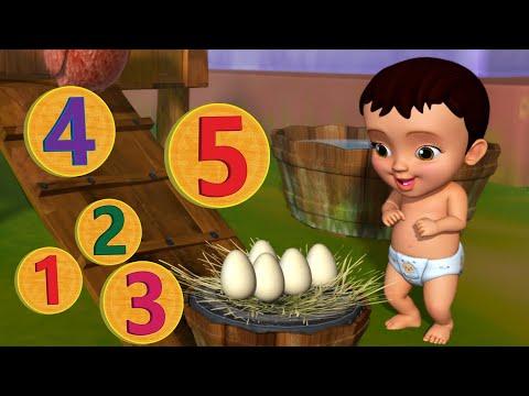 Download Ma Iṇṭlo Koḍi Cuḍaṇḍi - Numbers Song   Telugu Rhymes for Children   Infobells