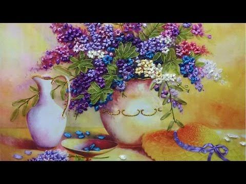Вышивка лентами. Картины, цветы, роза. Мастер класс