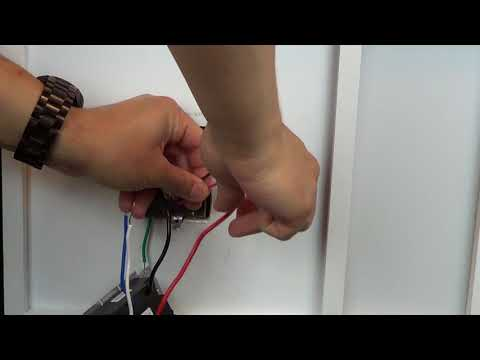 Wiring A Control With One Black One Red One Blue One White Wire 3 Way With A Pico Remote Youtube